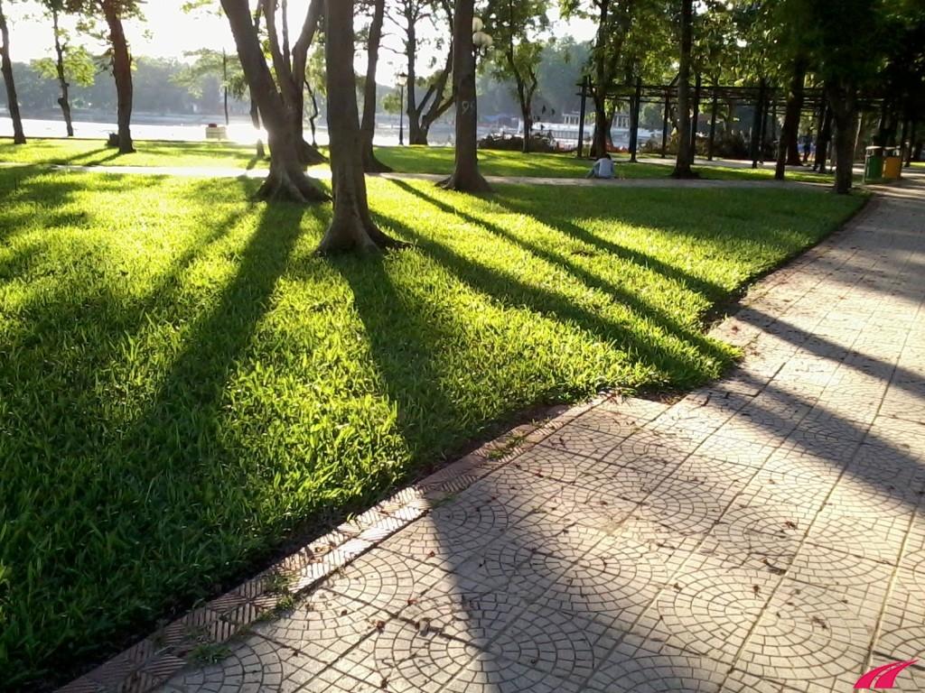 Địa điểm chạy bộ ở Hà nội - Công viên thống nhất