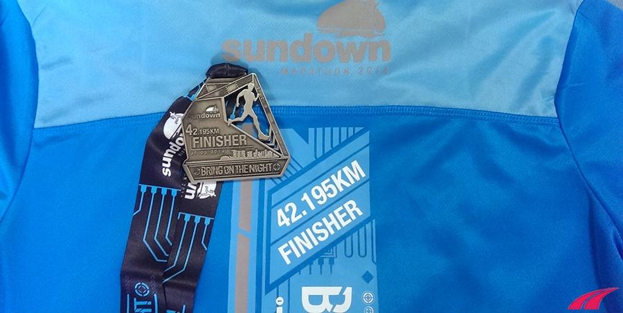 sundown marathon finisher medal