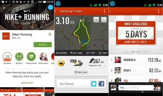 Dù bạn chạy ngoài đường hay trên máy tập treadmill thì Nike+ Running cũng có thể giúp bạn ghi lại các thông số cần thiết: tốc độ, cự li, thời gian, nhịp tim.