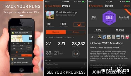 Strava cho phép bạn thi đấu với các runner khác trong những thử thách đầy cam go như chạy cự li 10km, Half marathon (21km) trong tháng hay bạn có thể chọn một cung đường chạy bất kì và vượt qua thành tích tốt nhất của đối phương ở cung đường ấy.