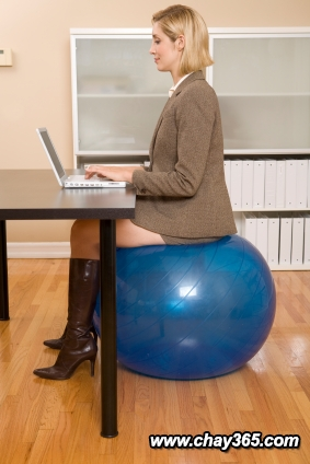 Sitting-on-stability-ball