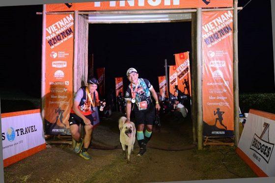 Cam, con chó chạy marathon đầu tiên ở Việt Nam. Ảnh: VTM