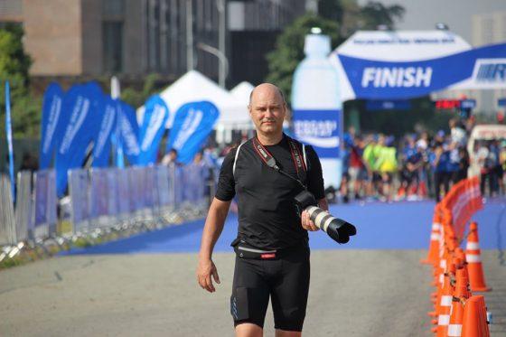 Marcel Lennartz ở một giải chạy tại TP.HCM