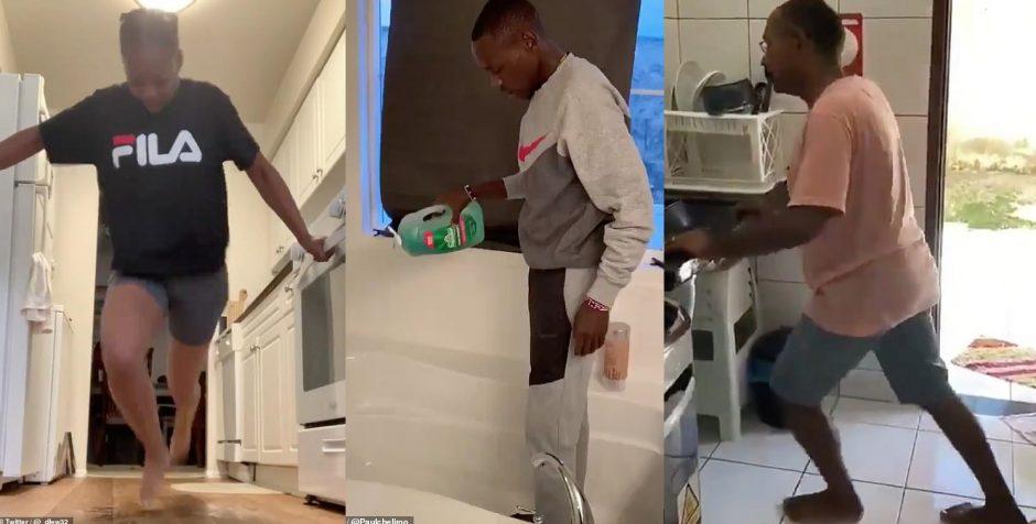 Chạy bộ trong nhà bằng xà phòng