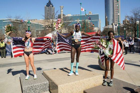 """3 gương mặt nữ lên podium Olympic Trials khiến nhiều người """"việt vị"""""""