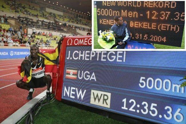 Cheptegei xô đổ KLTG 5000m của Bekele sau 16 năm