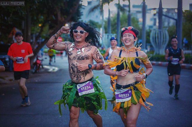 Trang phục thổ dân của NAG Hải Đông giúp anh ẵm giải cosplay. Ảnh: NVCC