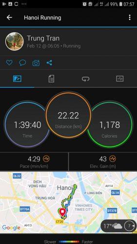 """Buổi chạy """"easy"""" của runner U50 Trung Trần"""